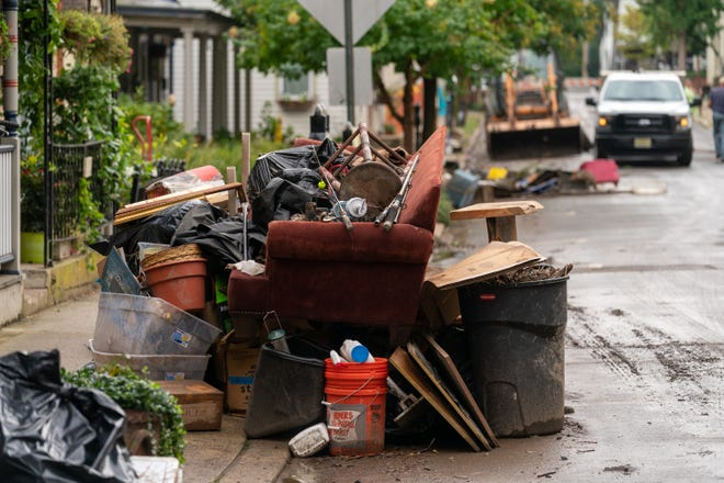 Lambertville residents begin the slow road to recovery after Hurricane Ida Thursday.