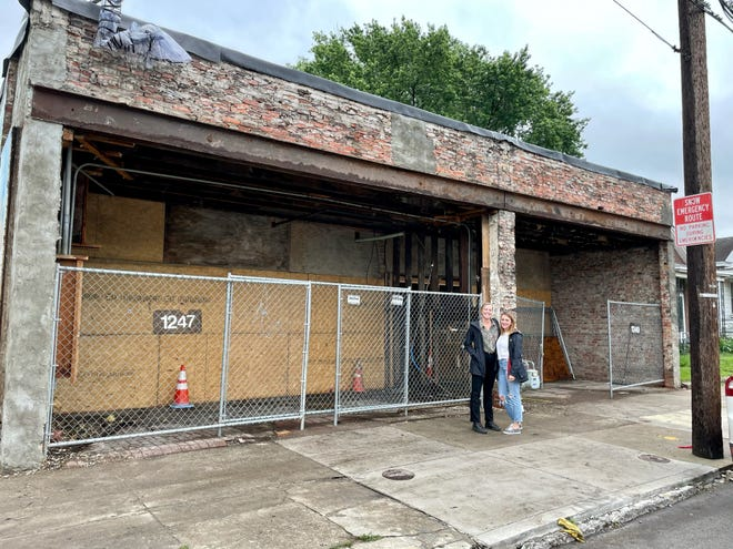 The Breeze Wine Bar and Spirits co-owners Sarah Height and Chelsea Moore at the site of what will be their new store at 1247 S. Shelby St.