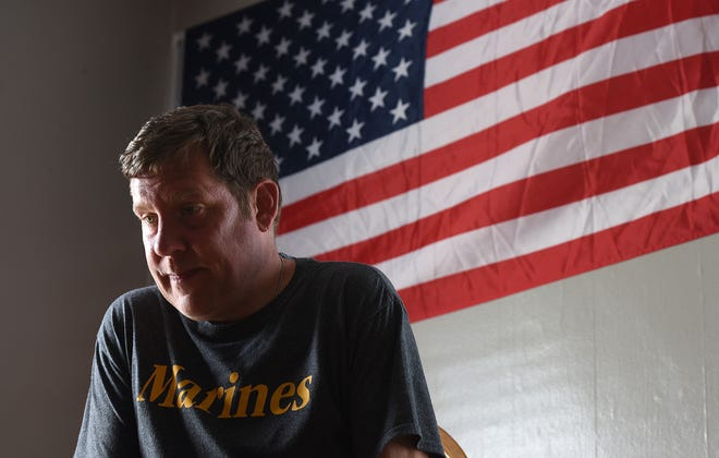 Dano Paulsen is a Marine Corps veteran who pleaded no contest to theft in August after removing tattered flags from the Flag Park in Shelby.