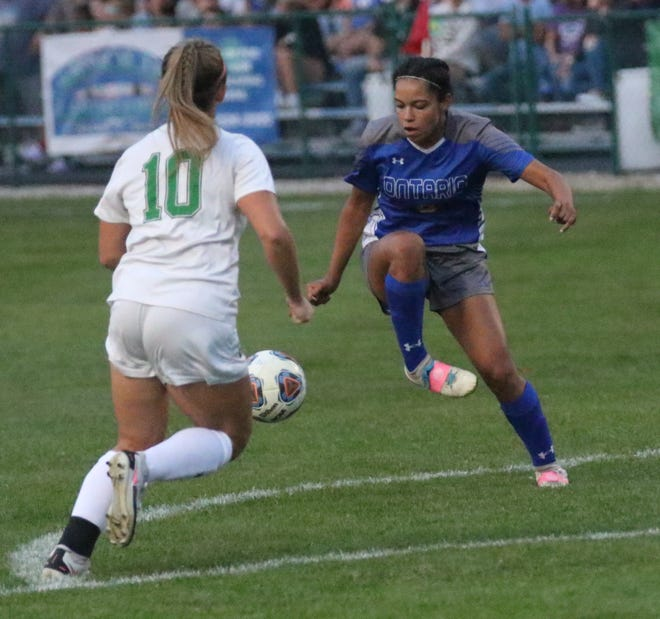 Ontario's Kyla Spencer scored a pair of goals in a 3-0 soccer win over Clear Fork.