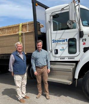 Bill and son Brent STewart, owners of Stewart Builder Supply.