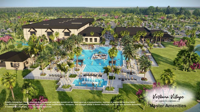Verdana Village amenities will include a Sports Complex with indoor courts for pickleball, tennis, and basketball, a fitness center, movement studio, and full-service café as well as a restaurant, private party room, outdoor pool bar, resort-style pool and more.