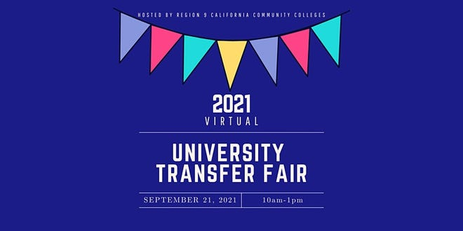 California Community Colleges of the Inland Empire will be hosting a free virtual transfer fair on Tuesday, Sept. 21