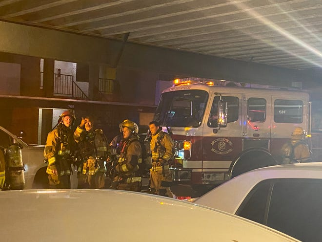 A group of Phoenix Firefighters responding to a call on Tuesday, September 14, 2021.