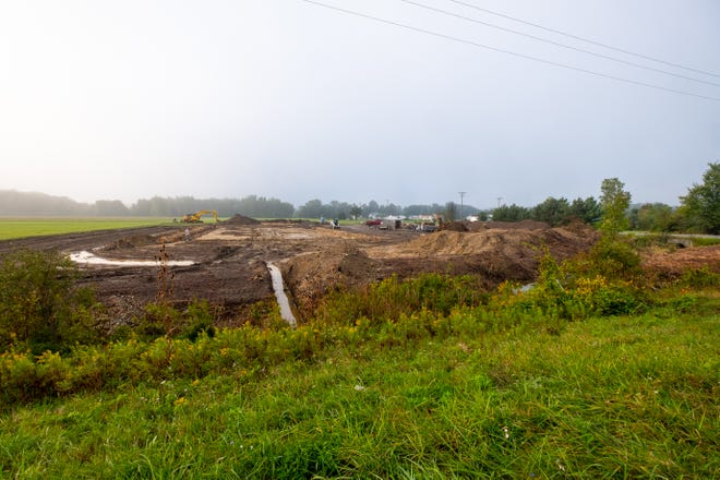 Construction has begun on a new Dollar General in Wales Township.