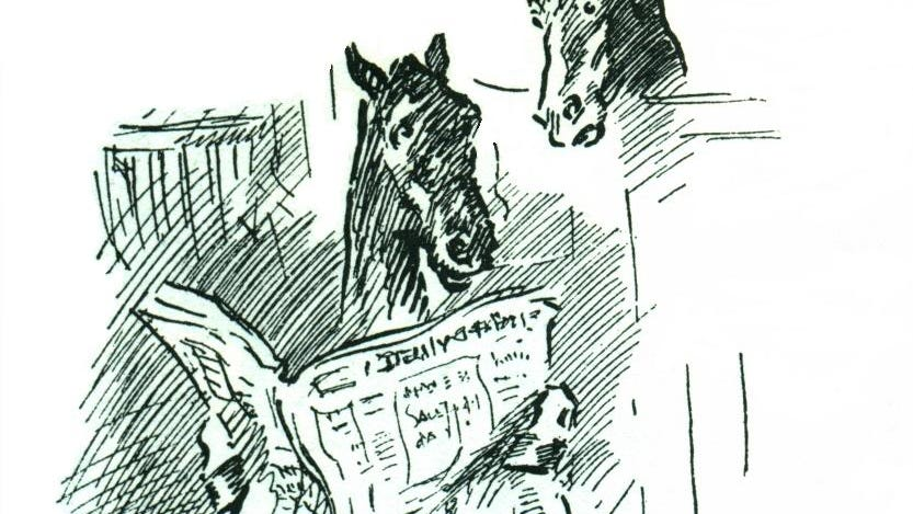 Horses were hitched up to local news in 1887