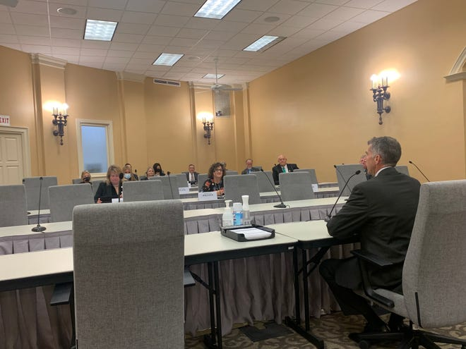 Donald Kauerauf, director of the Missouri Department of Health and Senior Services, testifies in front of the Missouri House Committee on Health and Mental Health Policy on Sept. 14, 2021. Kauerauf started in the role on Sept. 1 and was appointed by Gov. Mike Parson in July.