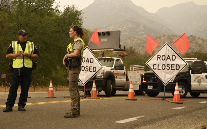 A closure is in place at Highway 198 in Three Rivers due to the growing KNP Complex Fire.