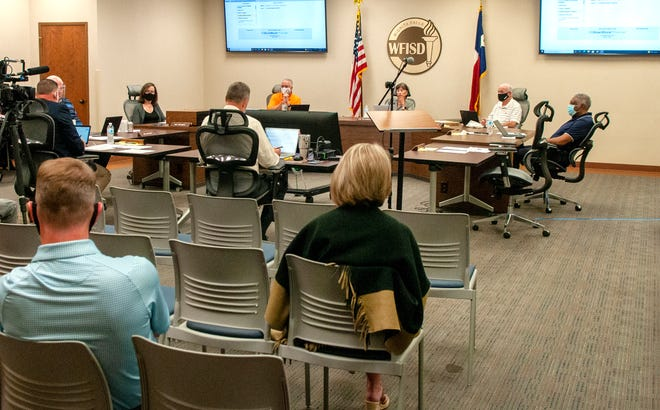 Wichita Falls Independent School District board members met on Tuesday and talked about possible picking school color and mascots for the new high schools.