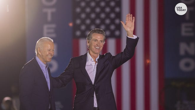 President Biden urges California voters to reject the recall against Gov. Newsom and the Republican front-runner, Larry Elder.