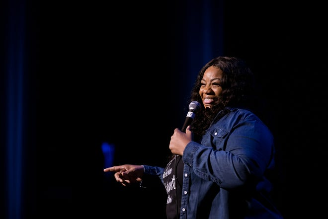 Ms. Pat performs for the Moontower Comedy Club Series at the Paramount Theater on Dec. 4, 2020. After pandemic delays to its annual comedy festival and a handful of limited-capacity special shows like that one, Moontower's marquee event will return to Austin venues this week.