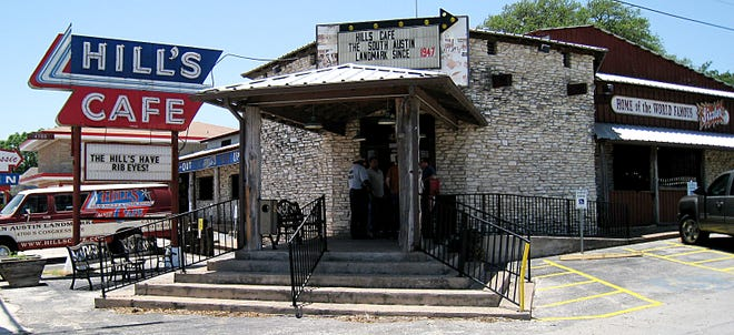 Hill's Cafe on South Congress Avenue in Austin closed in 2018. The site has been sold, and a project is proposed that calls for more than 600 apartments, along with retail and office space, a hotel — andpotentially a new life for Hill's Cafe.
