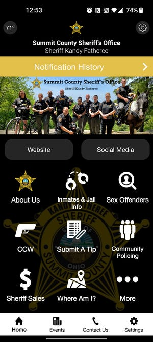 The Summit County Sheriff's Office launched a new app on Wednesday, Sept. 15, 2021.