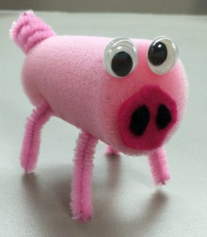 Learn to make items like this little piggy at a Crestview Public Library craft class.