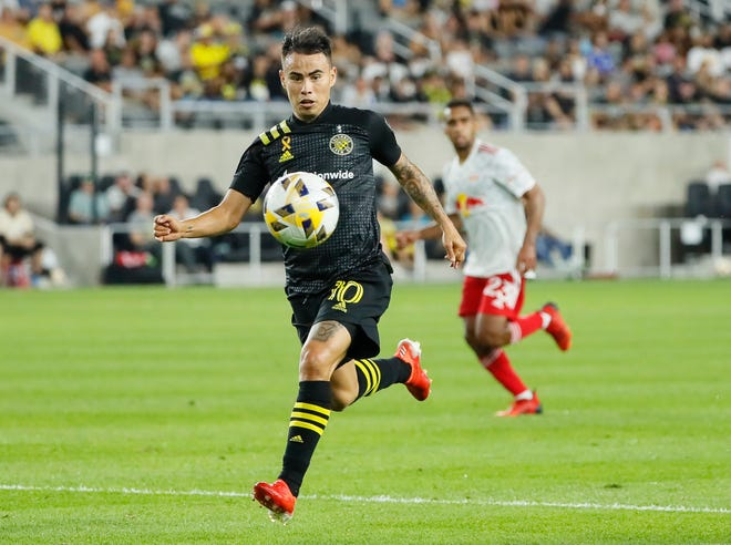 Columbus Crew midfielder Lucas Zelarayan (10) will make his debut for the Armenian national team later this month.