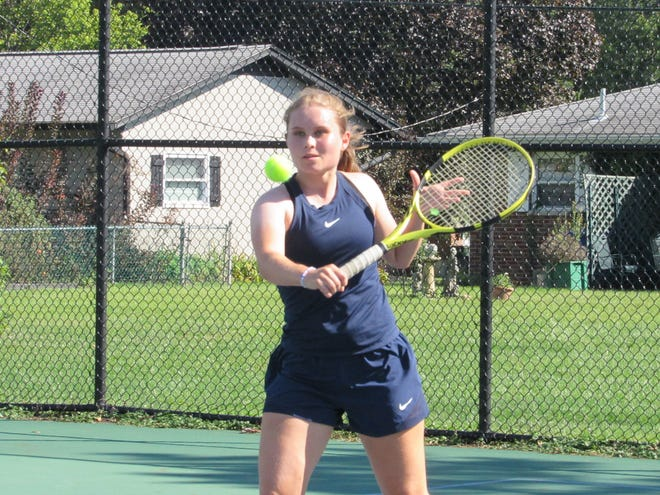 """Senior Stella Thompson is in her fourth season at first singles for the Whetstone girls tennis team. """"She's been a model kid, captain for a couple years and has really taken the role over,"""" coach Bucky Walters said."""