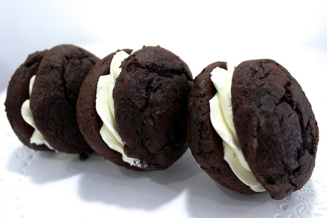 Whipped cream filled cookies sold at Mrs. Turbo's Cookies in Powell, which recently took over a rotating vendor space at the Budd Dairy Food Hall.