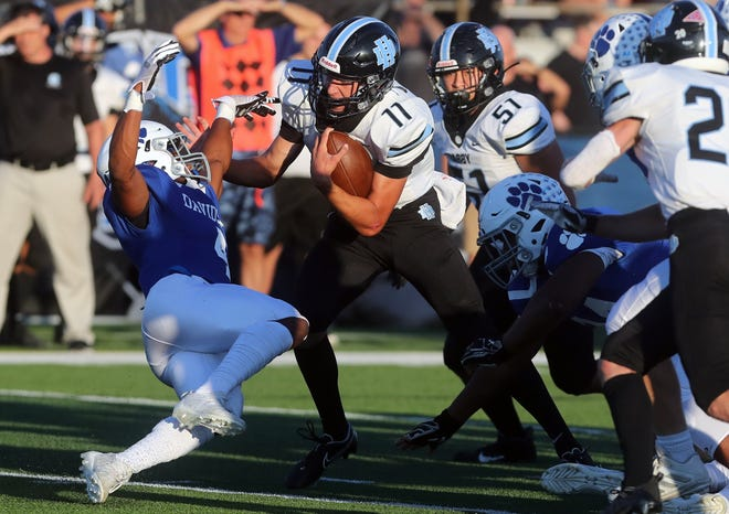Hilliard Darby quarterback Blake Horvath will be the focus of the Gahanna Lincoln defense on Sept. 17. Horvath has rushed for 621 yards and eight touchdowns on 77 carries.