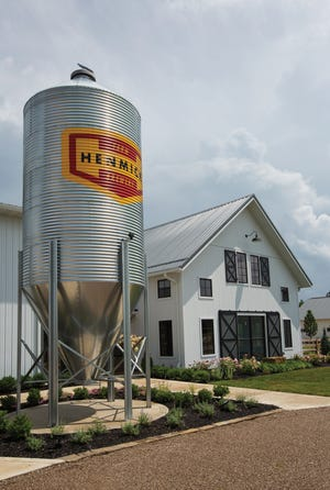 The Henmick property features its signature silo and fire pits.