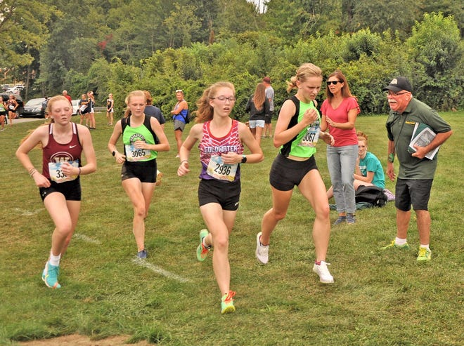 Coldwater was led on the day by freshman Lainey Yearling (middle) who finished in 16th place at the first I-8 Jamboree of the season