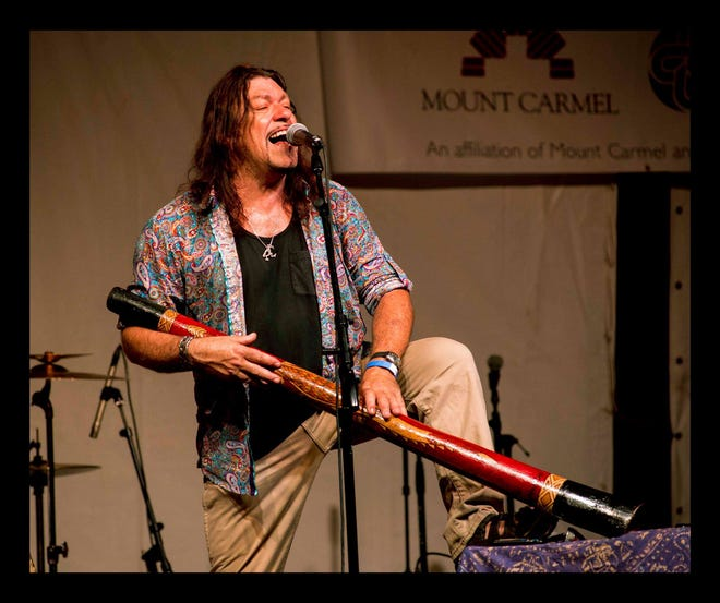 Australian bluesman and didgeridoo master Harper and Midwest Kind will perform Thursday night at the BRE Summer Concert Series and Heritage Festival. Admission is free; the music begins at 6 p.m. with the Travis Ried Band.
