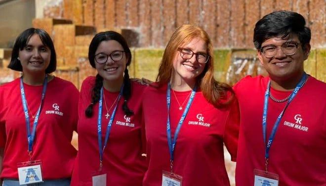Avril Tovar, Caroline Davis, Elizabeth Locke, Deshawn Magana named drum majors for the Tiger Pride Band for the 2021-22 school year.