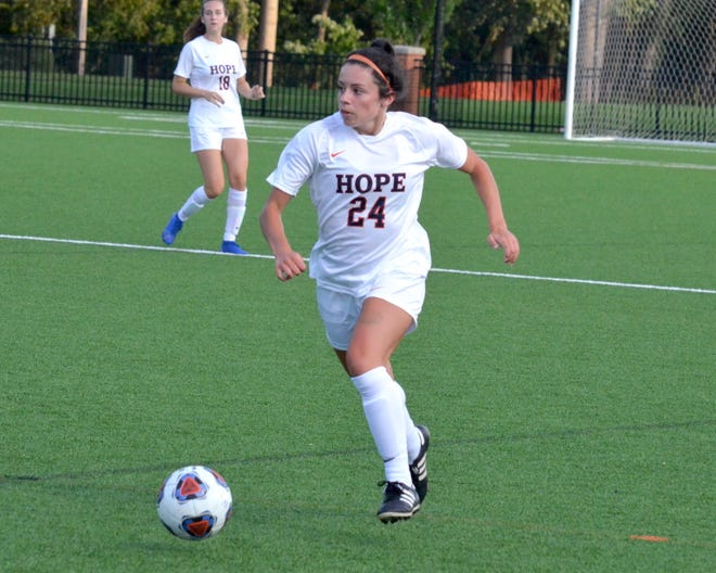 Tally Martinez is a starting defender for the Hope College soccer team.