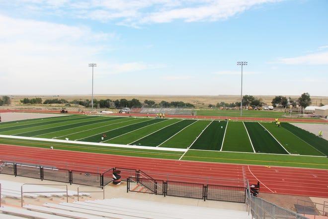 Installation of the new artificial turf at Tiger Stadium has begun.