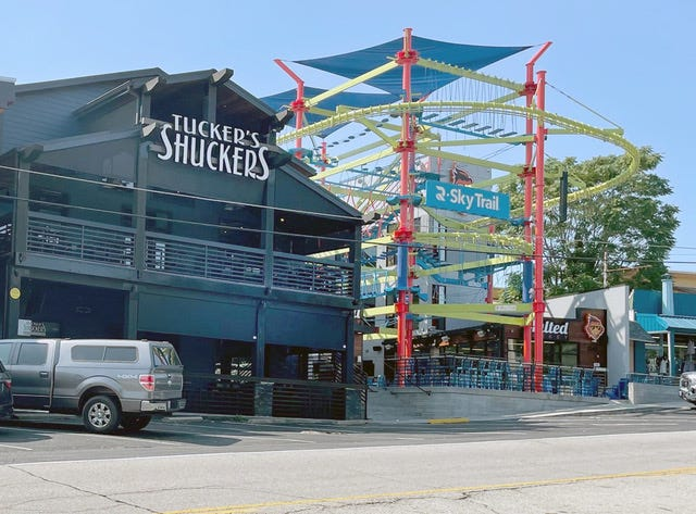 Tucker's Shuckers owner George Tucker made a donation to the Lake Ozark Police Benevolent Police Association.
