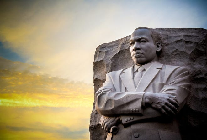 The statue memorial for Martin Luther King Jr. in West Potomac Park, Washington, D.C.
