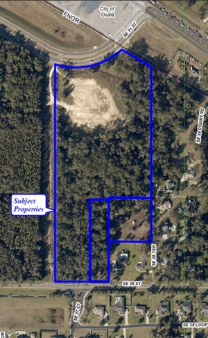 This is the 20-acre site for Oak Hammock Preserve, which will consist of 168 townhomes. It is located south of Southeast 31st Street and north of Southeast 38th Street, just west of Maricamp Road.