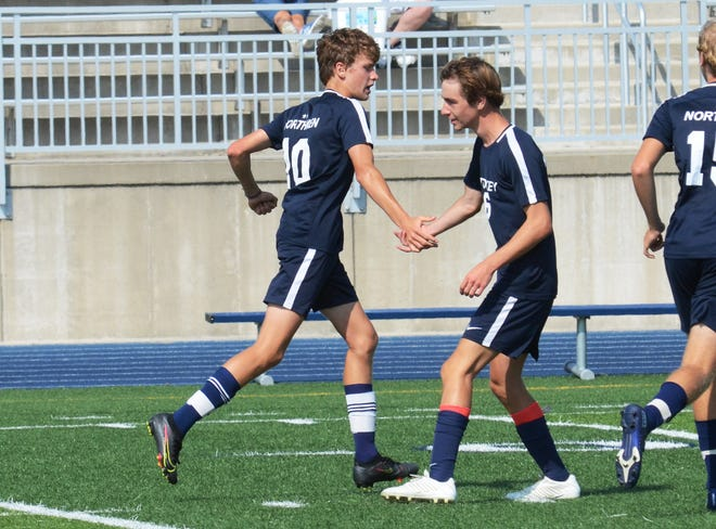Parker Streiff (10) and Sawyer Webster (6) helped get the Northmen back in the win column, which included a three-score game from Streiff.