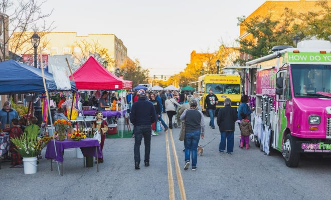 Hopewell Downtown Partnership Third Thursday festival in October of 2018.