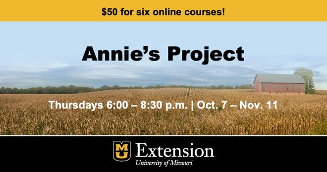 Annie's Project will be offered virtually on Thursdays, from Oct. 7 to Nov. 11 beginning at 6 p.m.
