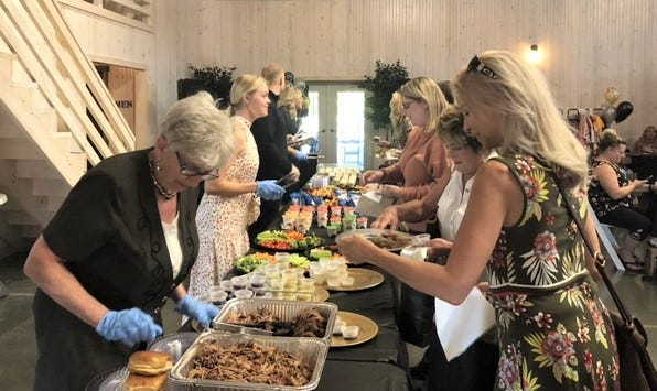 The fifth annual Ladies Night, sponsored by the Owen County Chamber of Commerce, was held this weekend at Abram Farm. The event was well attended and gave local ladies the chance to mingle, while enjoying a good meal and seeing the items that local businesses have to offer.