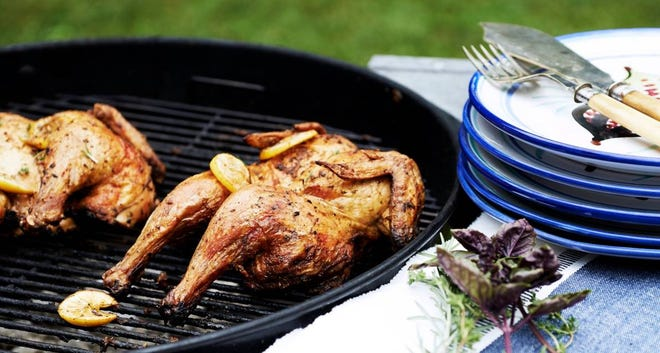 Grilled chicken for a crowd.