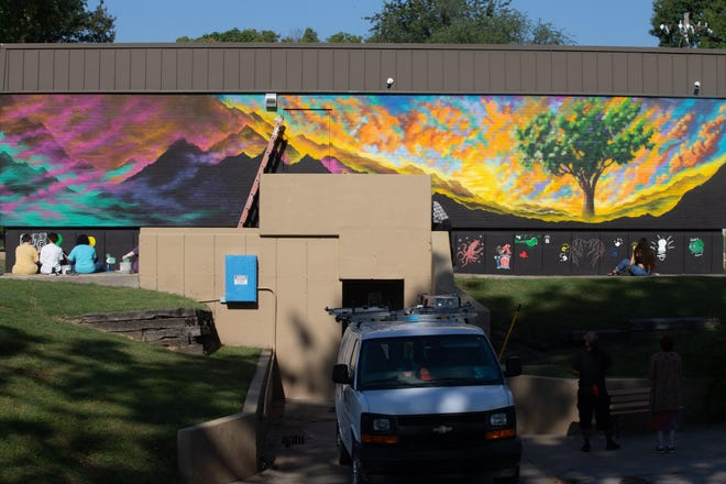 A colorful new mural is painted on the east side of the Boys and Girls Clubs Teen Center, 1112 S.E. 10th Ave. The project is a collaboration between Topeka artist Robert Tapley Bustamante and Highland Park High School students.