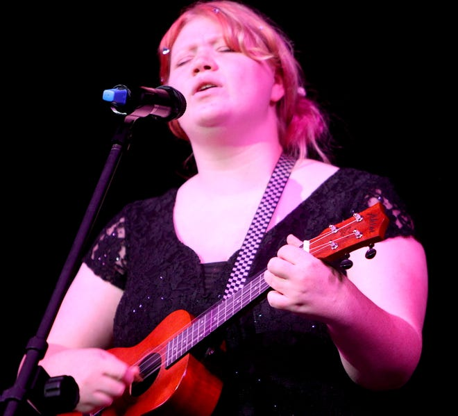 """BNL student Josie Martin performs the song """"Riptide"""" during the Talentpalooza contest Monday evening."""