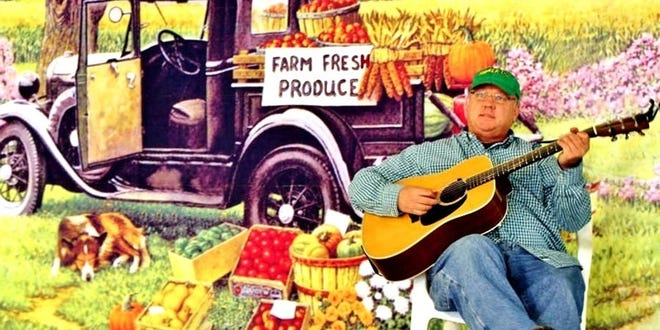 Farmer Tom Walsh is a new entertainer to the Garlic Festival this year. His funny songs and stories will leave children of all ages laughing.
