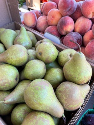 Pears and peaches will be available at the Marblehead Farmers Market on Sept. 18.