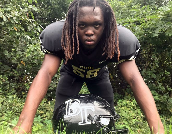 Burlington Township's Ian Mapp isn't a prototypical nose tackle. He stands 5-foot-4, 180 pounds, but his speed and leverage make him difficult to block.