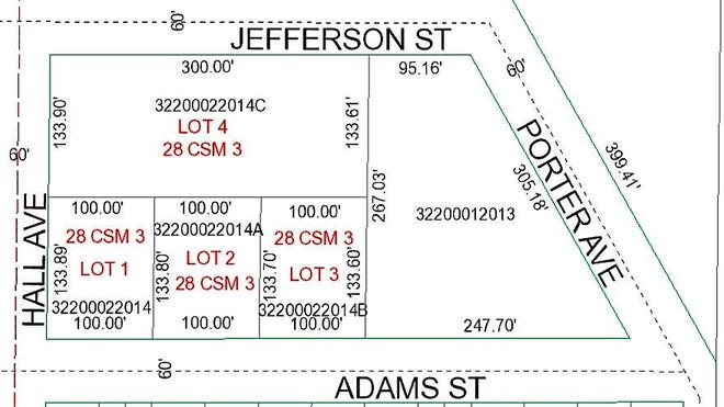 The Oconto City Council on Tuesday approved the rezoning of Lot 4 from R2 (residential multi-family) to R1 (residential single family) and changing the the right side of the tract from R2 to R3 (multi-family residential). The owner of the site plans to build two six-unit townhouses along Jefferson Street and two single family homes along Adams Street.
