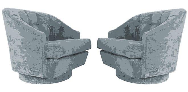 Gray swivel chairs