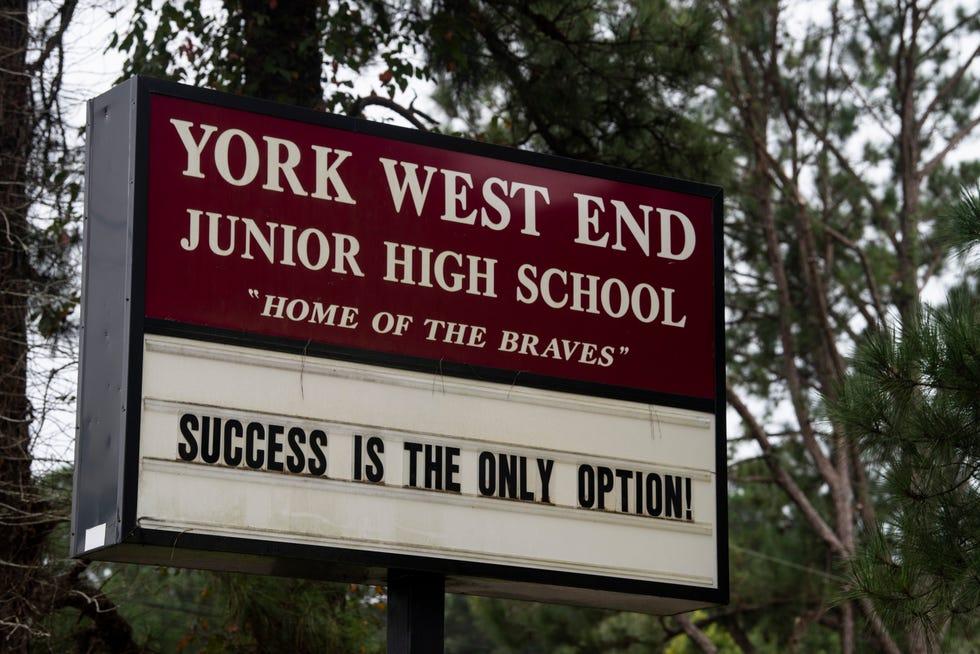 York West End Junior High School in York, Ala., on Tuesday, Sept. 14, 2021.