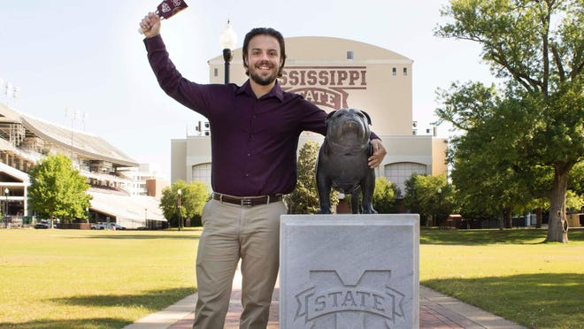 """Gage Leifried, who plays Will Bloom in Wetumpka Depot's new production of """"Big Fish,"""" is hearing impaired. He attended Mississippi State University, where he pursued a degree in chemical engineering."""