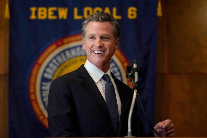 Gavin Newsom, gobernador de California.
