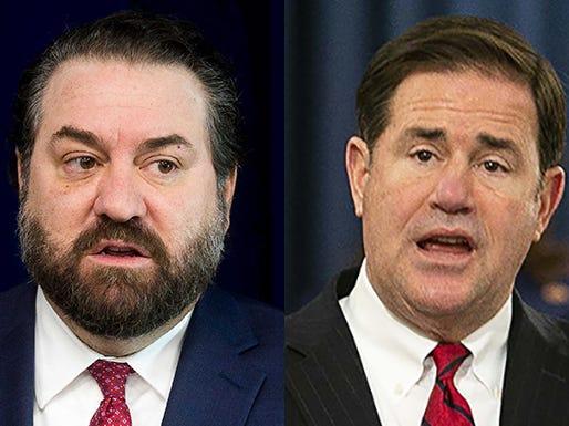 Arizona Attorney General Mark Brnovich (left) and Arizona Gov. Doug Ducey.
