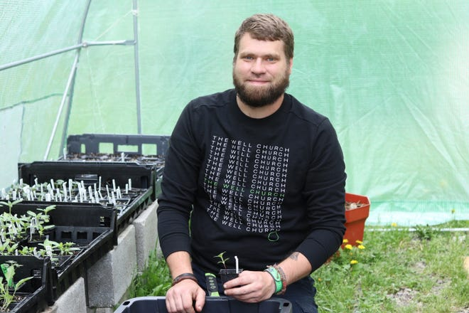 Dyllan Dale, Victory Mission's kitchen manager, uses fresh produce from Victory's garden and other local farmers to produce a gourmet Garden Harvest Meal this Saturday. The monthly harvest meals raise funds to support Victory Mission's programs.