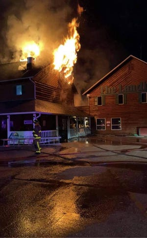 A portion of The Landing in Van Buren was destroyed by fire in the early hours of Sept. 15, 2021.