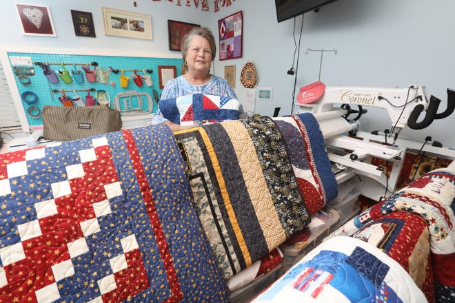 Barbara Bogart and the Quilters for Veterans will present quilts to several area veterans during the Veterans Appreciation Foundation's veterans breakfast on Saturday at The Barn in Zanesville.